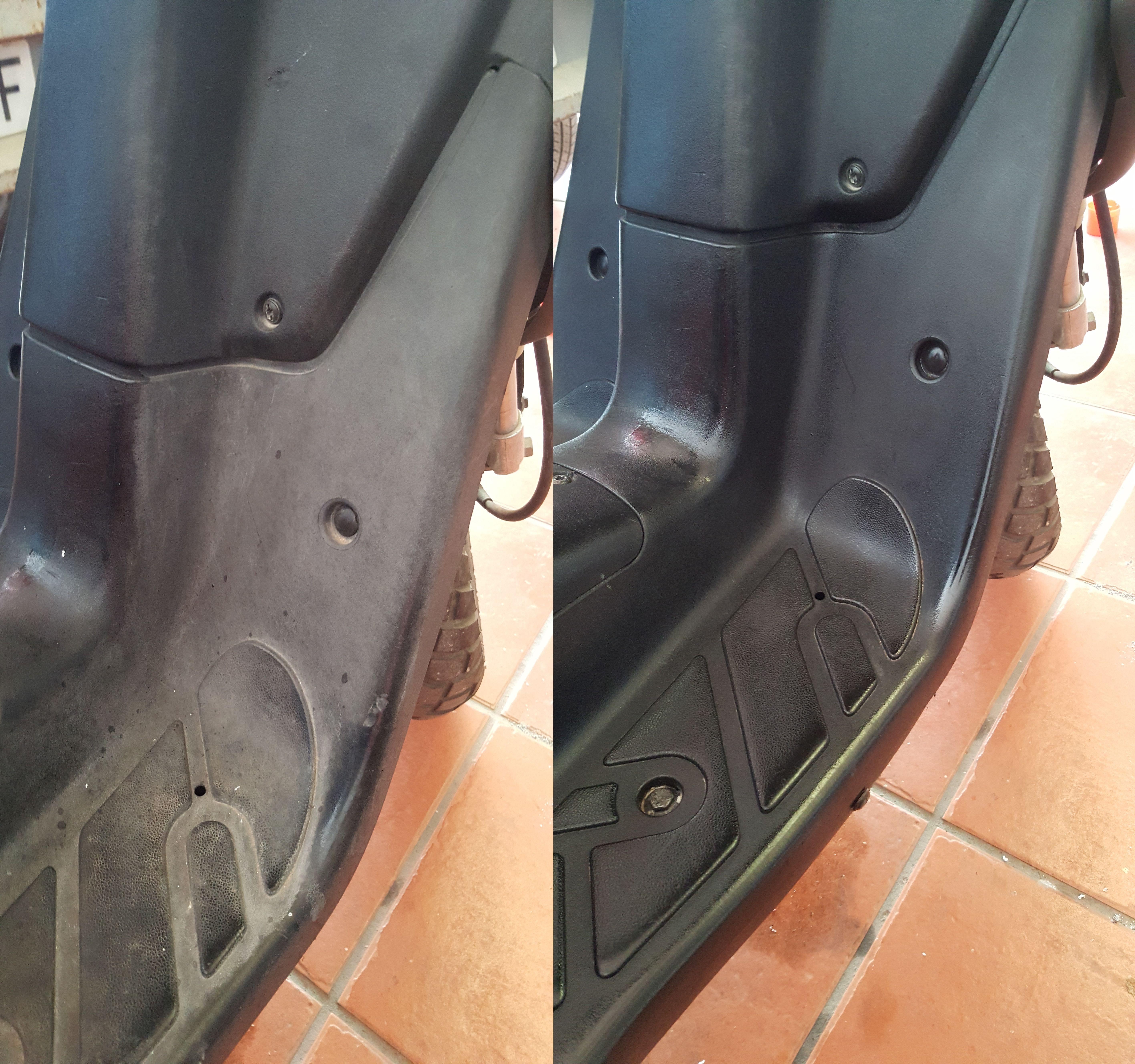 Arreglo en reposapies de scooter