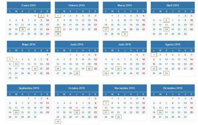 Calendario para presentar la renta en 2016