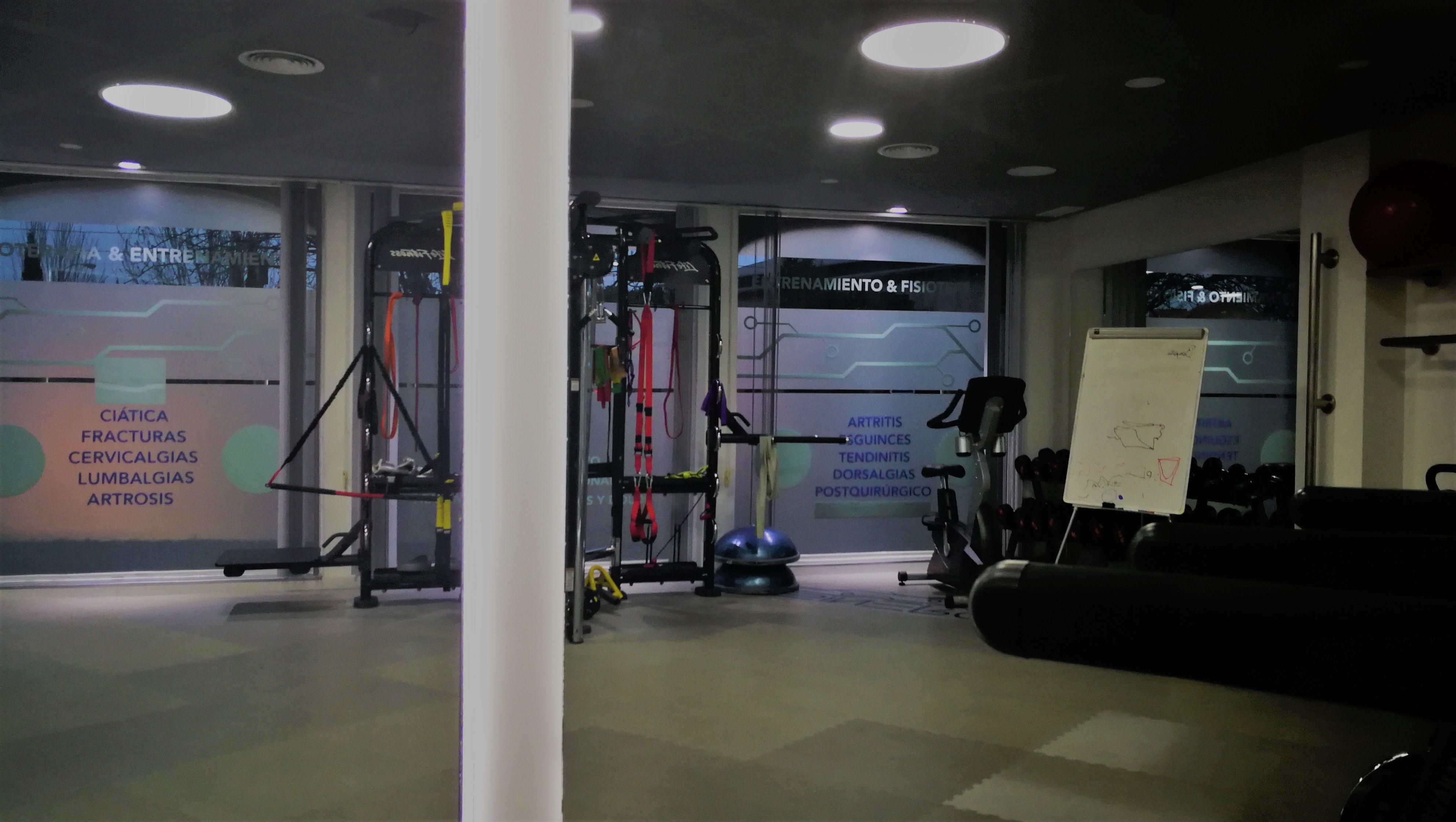 Amplio espacio para el entrenamiento