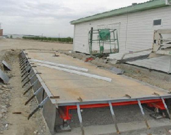 Instalación de básculas para el pesaje de camiones