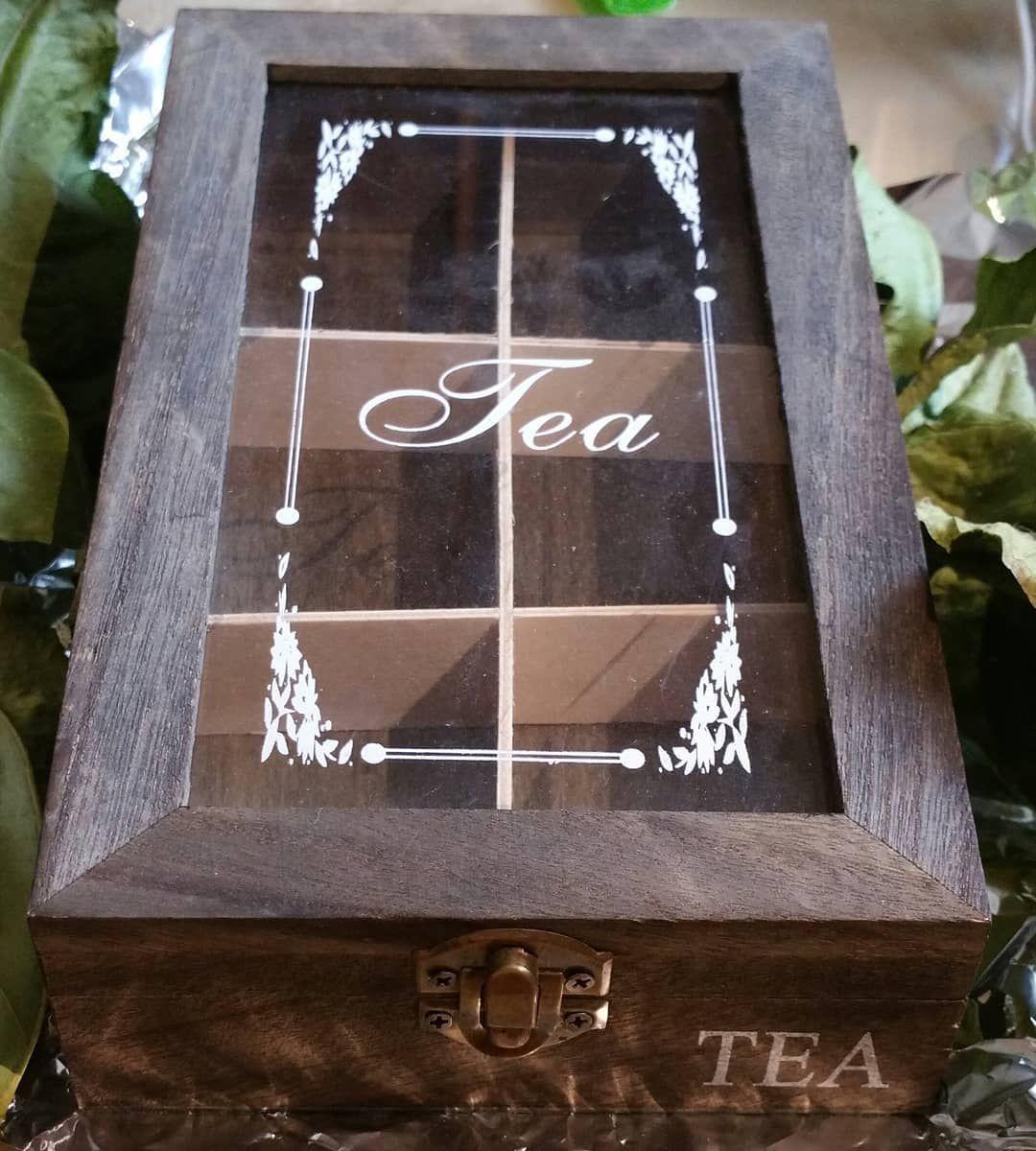 Caja organizadora de té