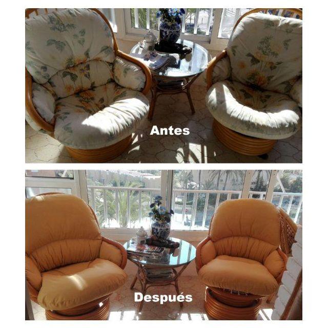 Trabajos de tapicería  antes/después