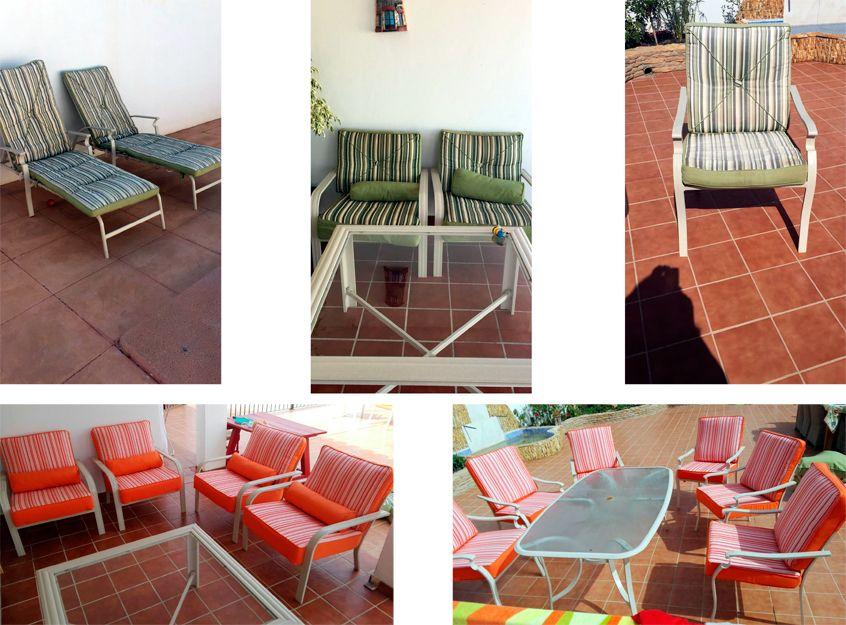 Tapizado de muebles de jardín en Alicante