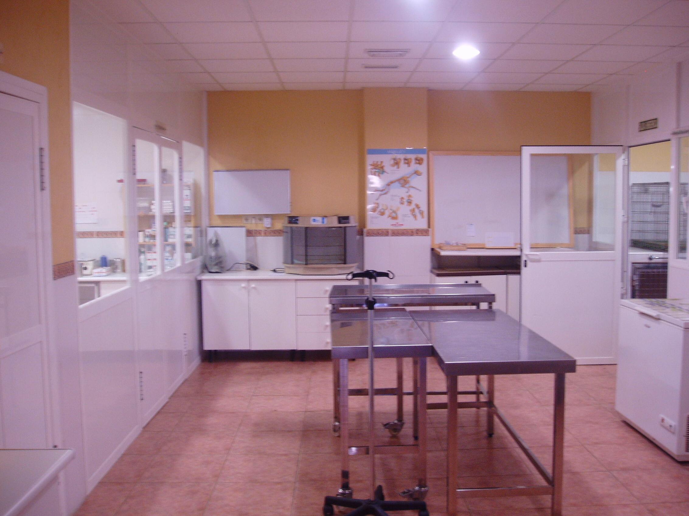 sala de urgencias y prequirófano, comunicada con diagnóstico por imagen, hospitalización y quirófano