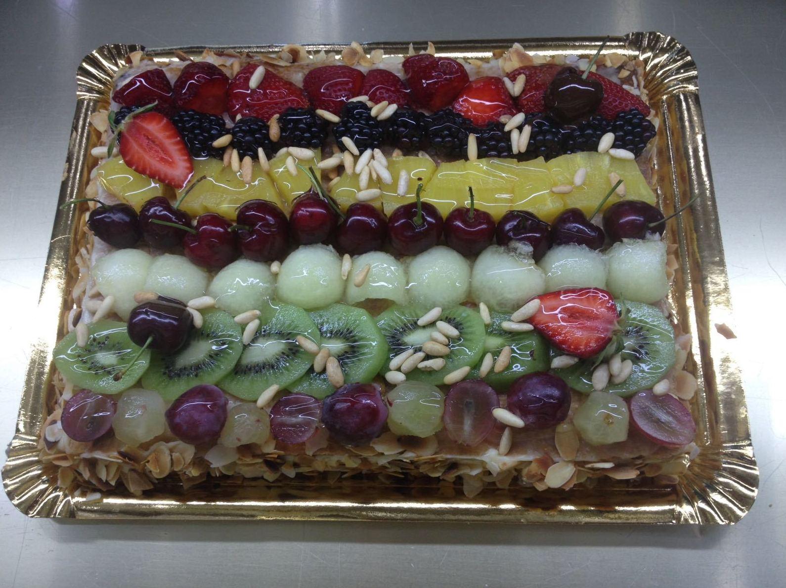 Tarta de frutas en Madrid