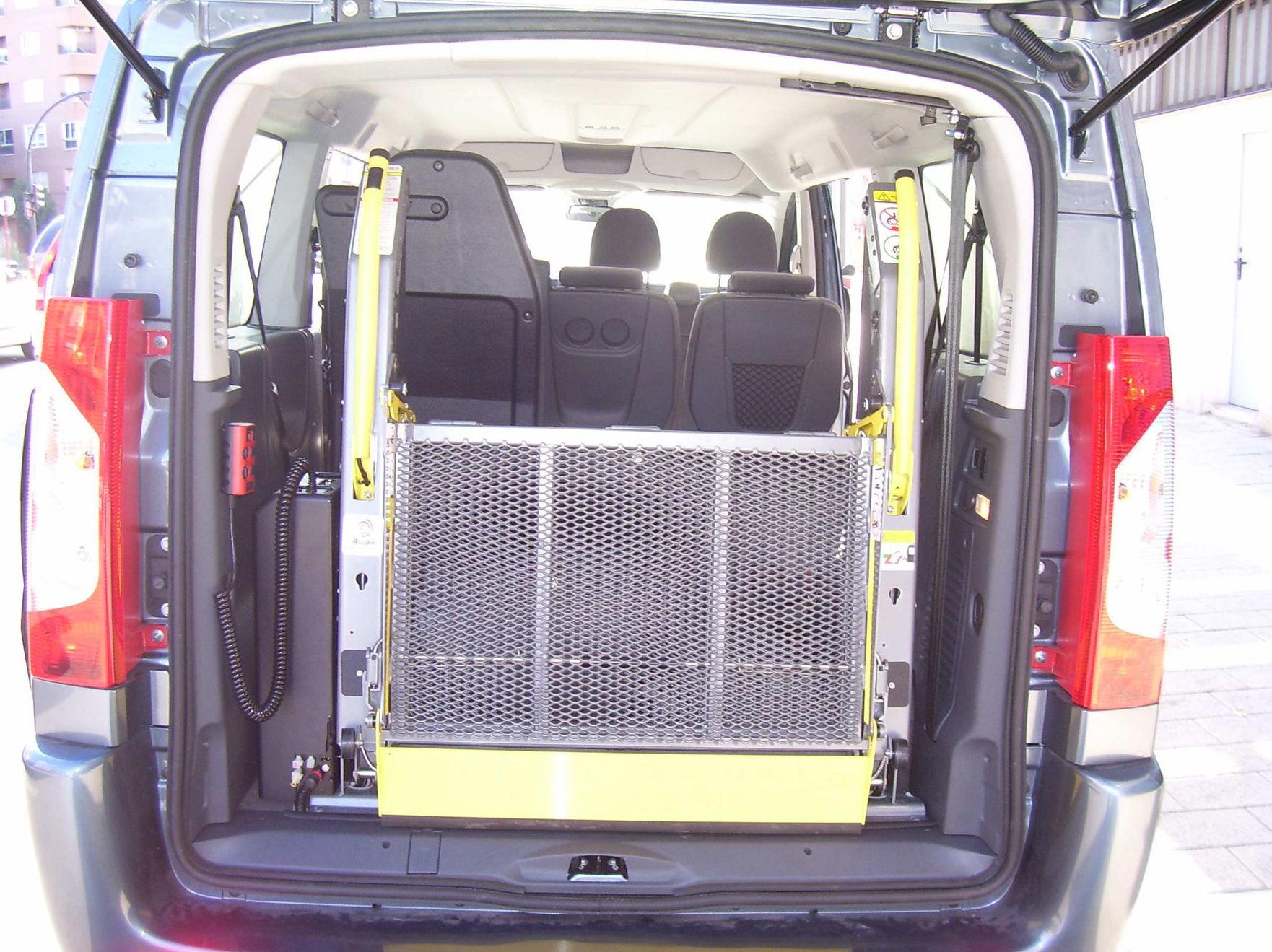 Plataforma sujeta al vehículo