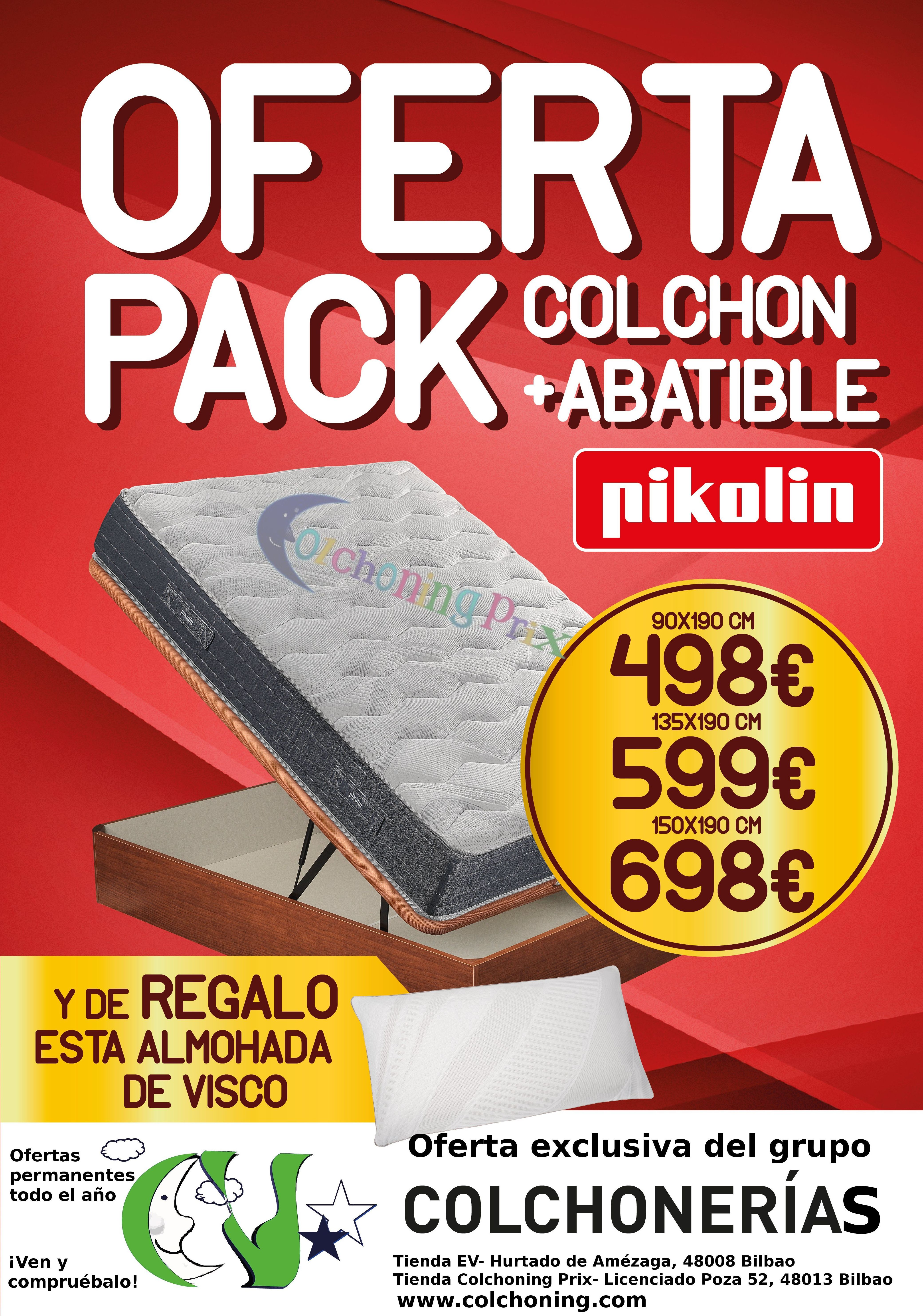 Oferta pack colch n y canap abatible pikolin 50 dto for Oferta canape y colchon