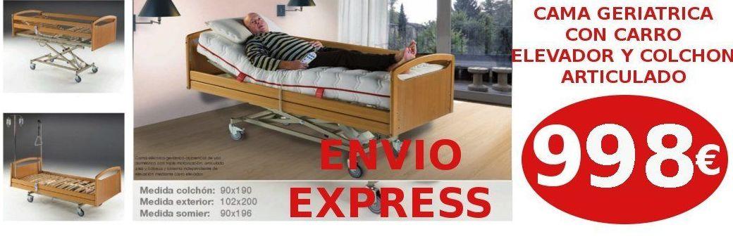 EV Colchonerías: cama eléctrica con carro elevador y colchón 90 por sólo 998 €