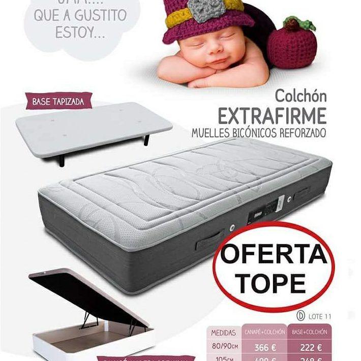 EV Colchonerías: oferta pack colchón y base tapizada 135 por sólo 296 €