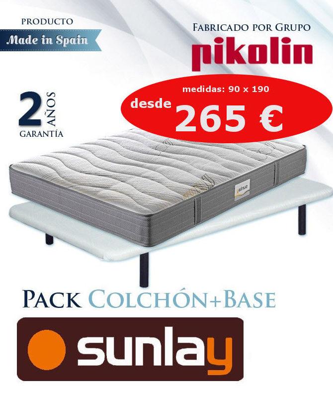 NUEVO: CONJUNTO COLCHON Y BASE PIKOLIN DESDE 265 €