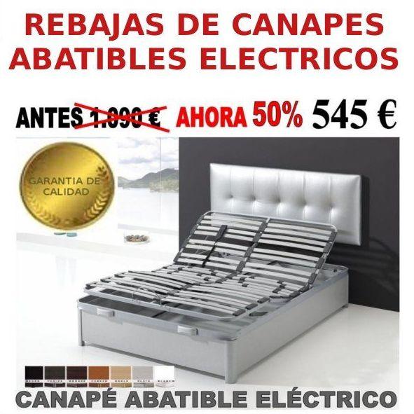 Canapé eléctricos a mitad de precio en Colchonería EV