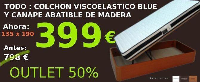 EV Colchonerías: colchón y canapé 135 por sólo 399 €