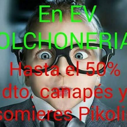 EV Colchonerías: rebajas 50% dto. somieres y canapés Pikolin