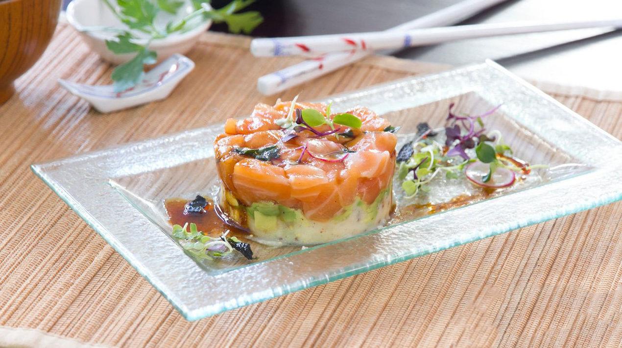 Tartar de salmón 3 colores