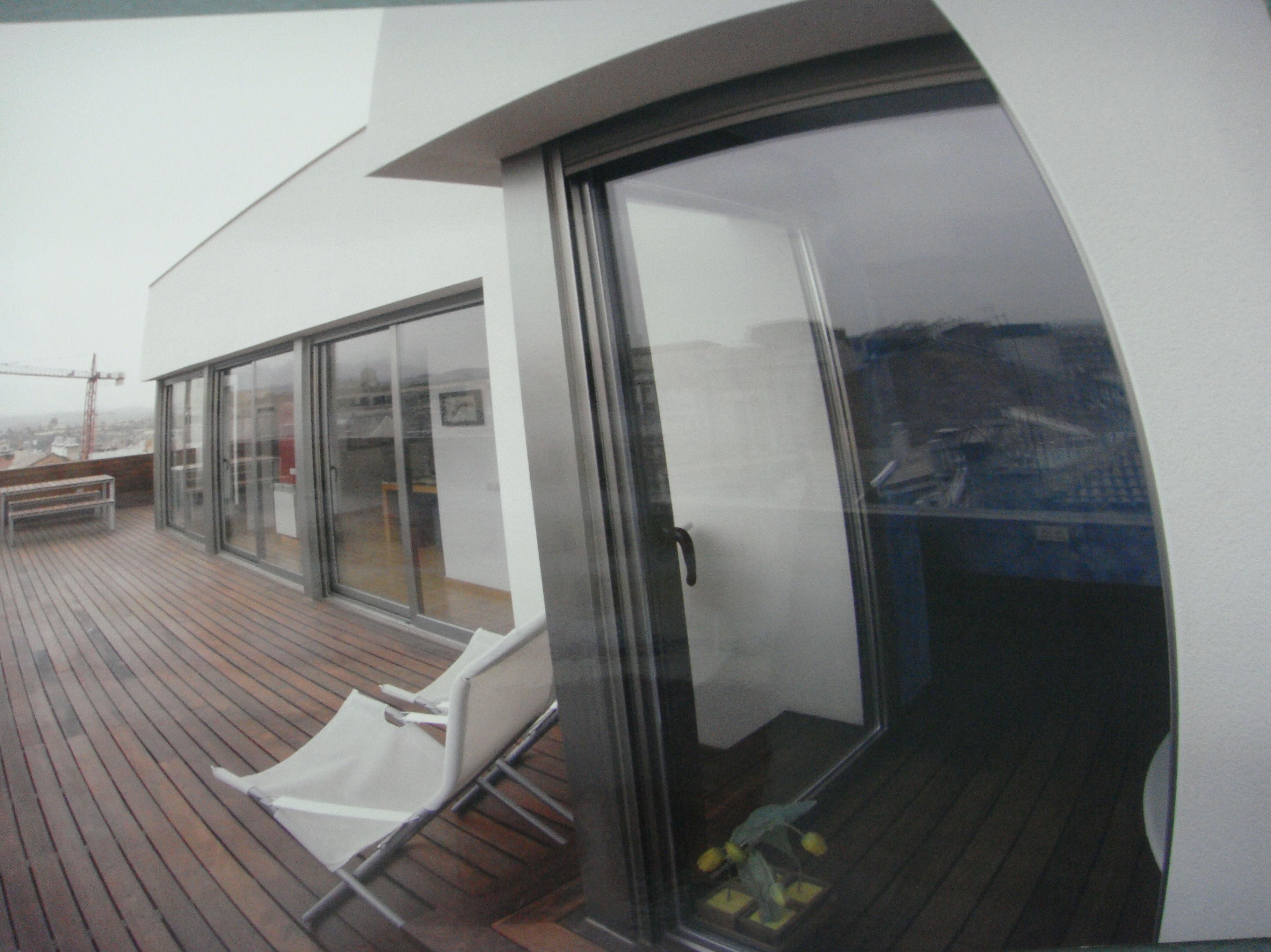 Puerta de terraza de aluminio