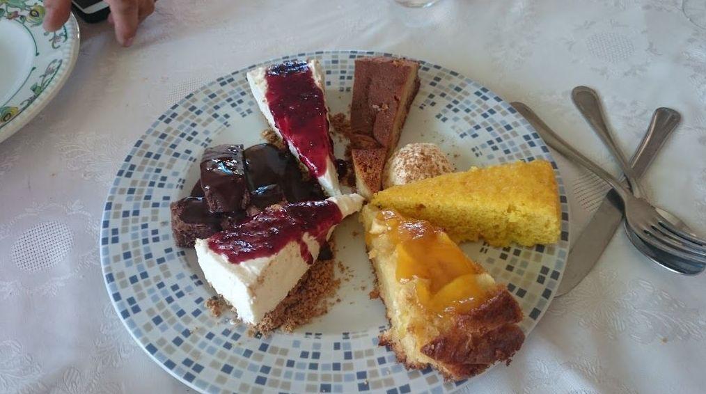 Homemade desserts assortment