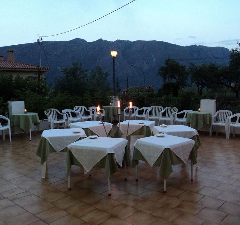 Outdoor terrace of the restaurant