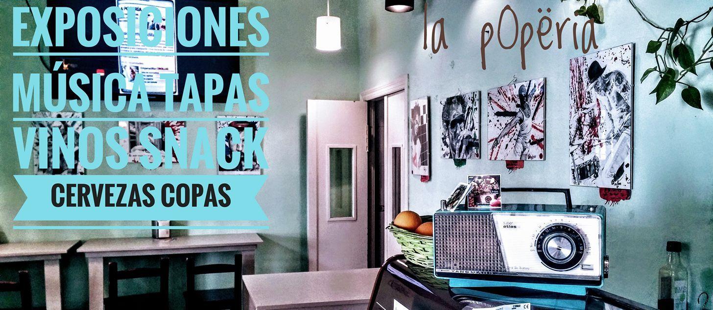Exposiciones, tapas y música en La pOpëría, Córdoba