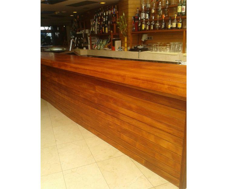 Barra de madera para bar