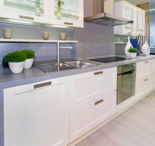 cocina lacada con marco