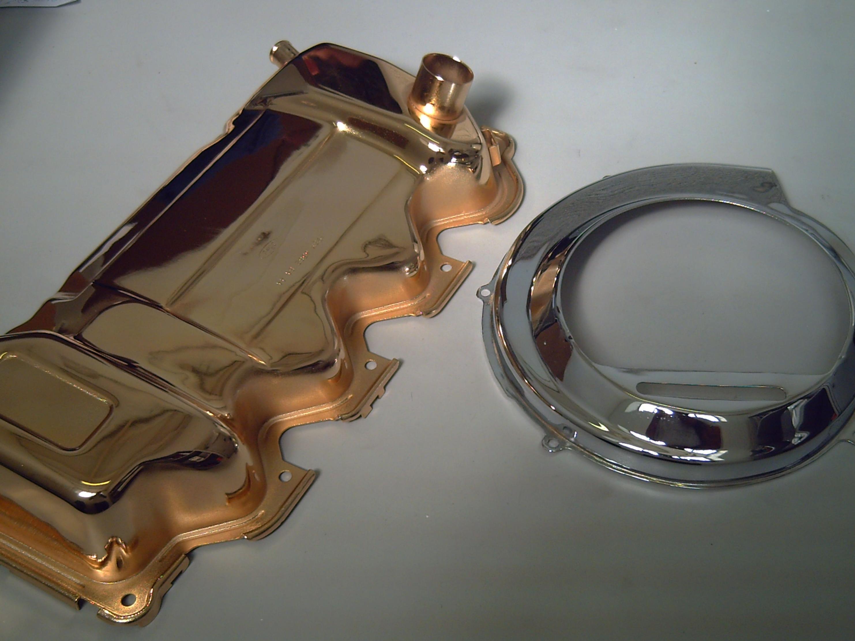 Rebeca, pulidos y cromados, piezas con baño de oro