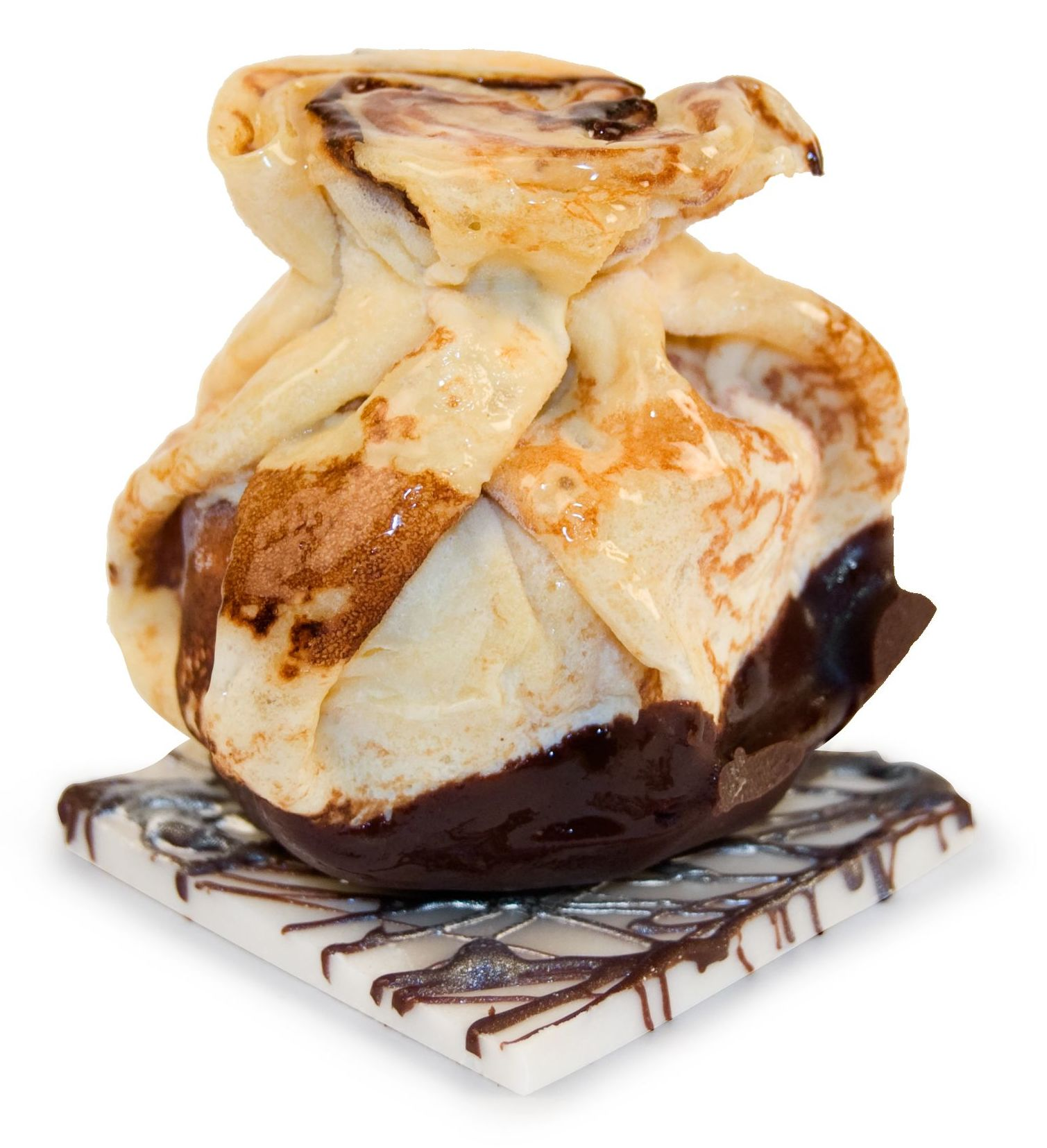 Auténtico crep artesanal relleno de bola de helado o de mousse.