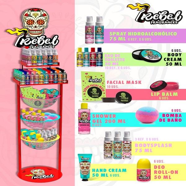 """EXPOSITOR """"REBEL"""": Productos de Sarigabo, S. L."""