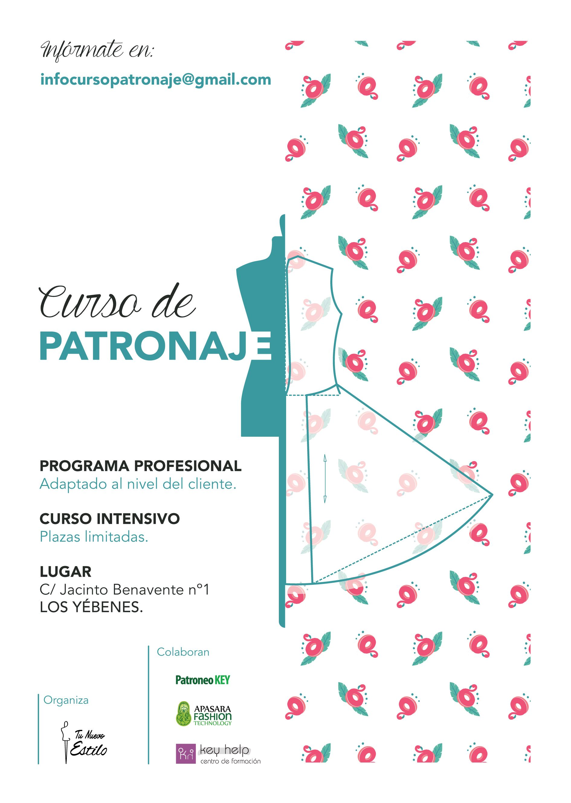CURSO DE PATRONAJE INDUSTRIAL:  Shop on line de JULIA CASAS GARCÍA