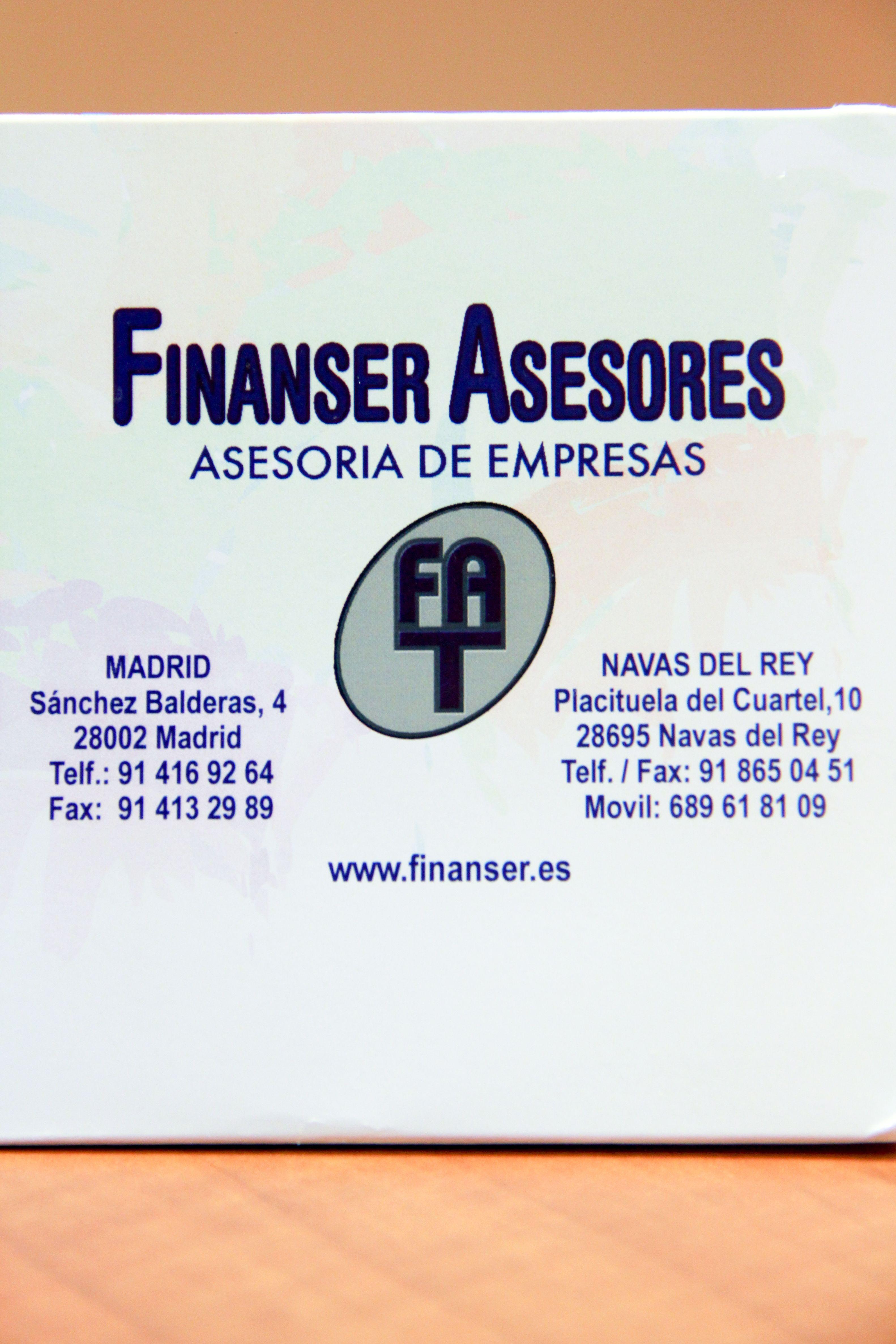 Rótulo informativo Finanser Asesores