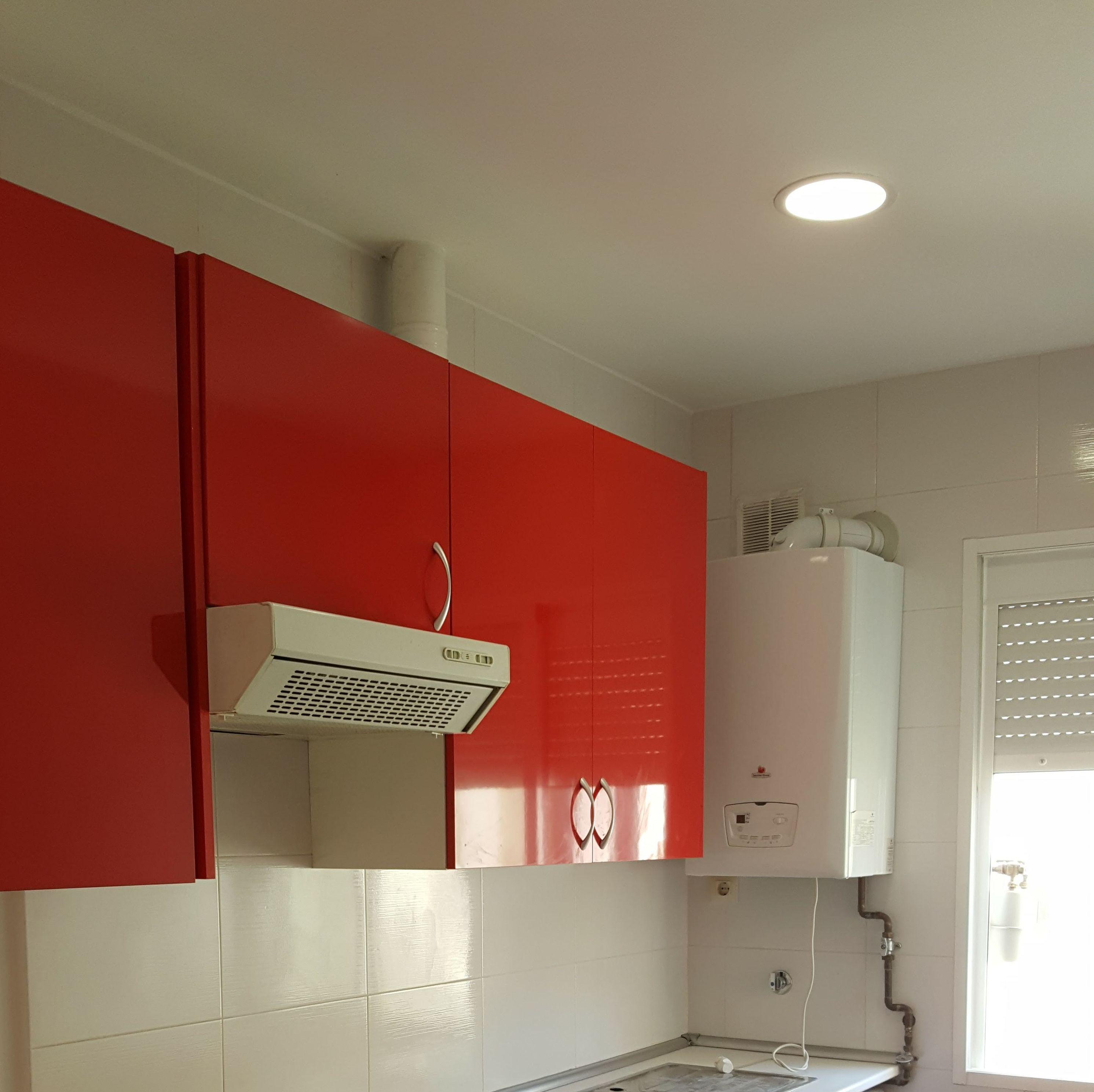 cocina de formica rojo alto brillo