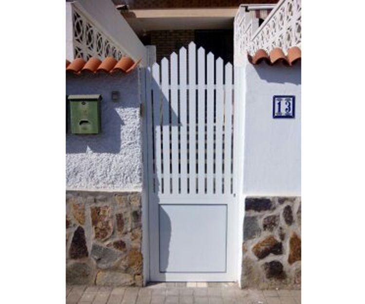 Puertas de acceso a jardín en aluminio