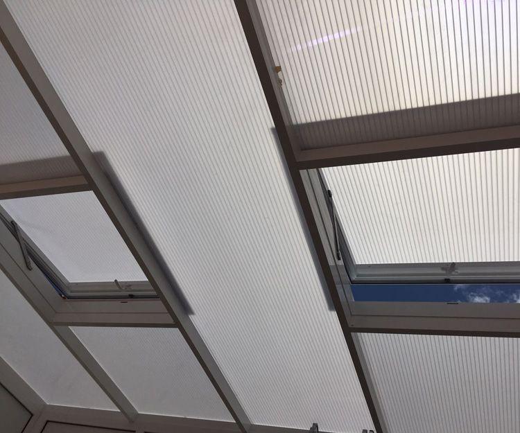 Cerramiento de techos con aluminio