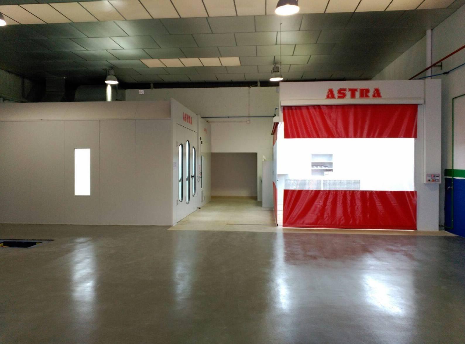 Taller de chapa y pintura equipado con cabinas ASTRA para un óptimo acabado