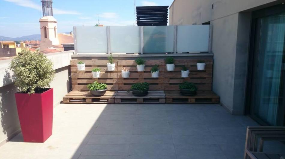 Planta de exterior, complementos y mobiliario