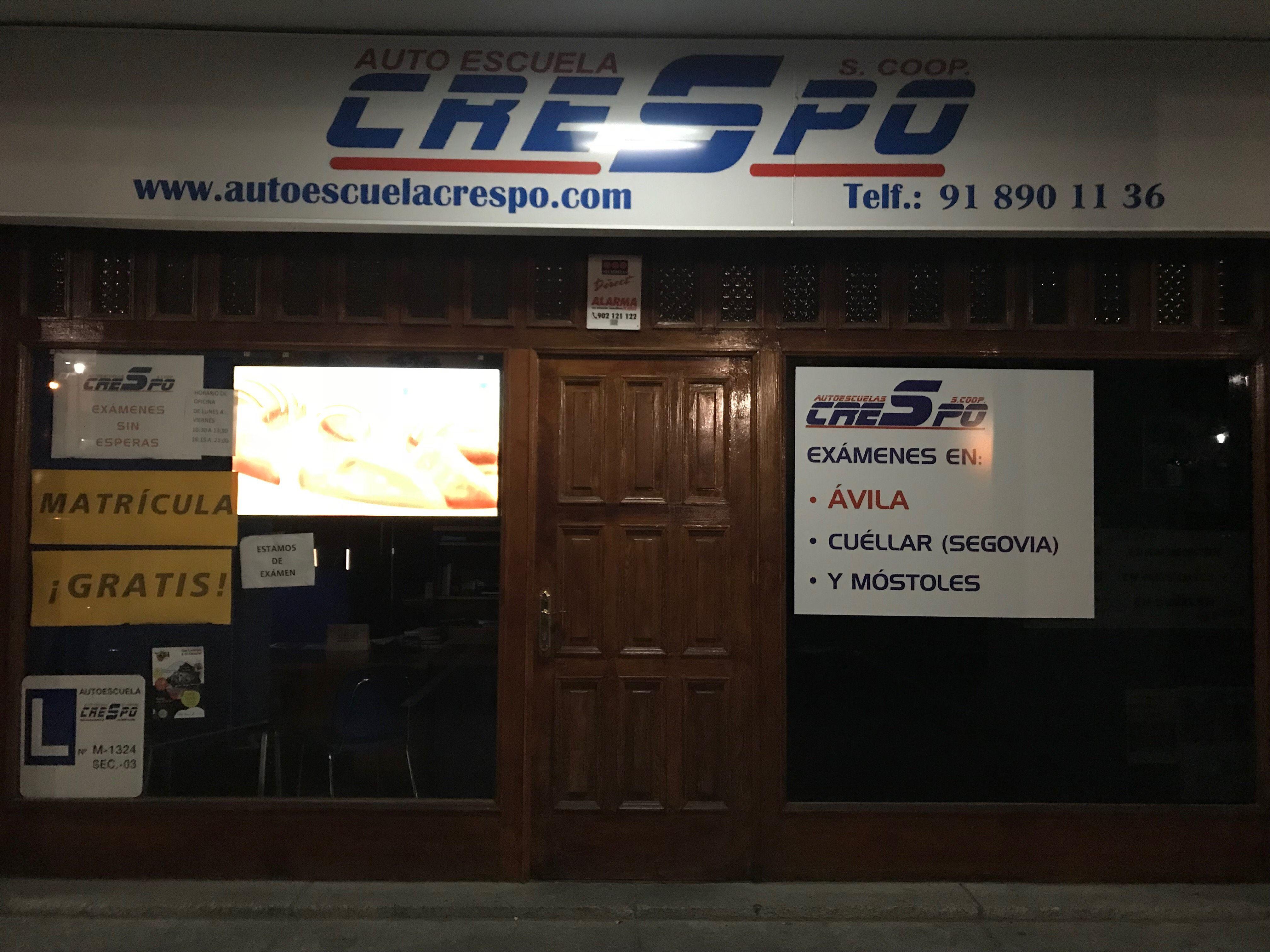 Autoescuela Crespo, enseñanza teórica y práctica