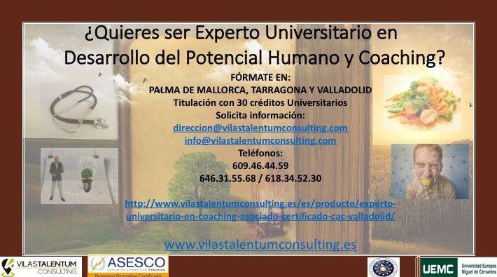 Experto Universitario en Desarrollo del Potencial Humano y Coaching CAC