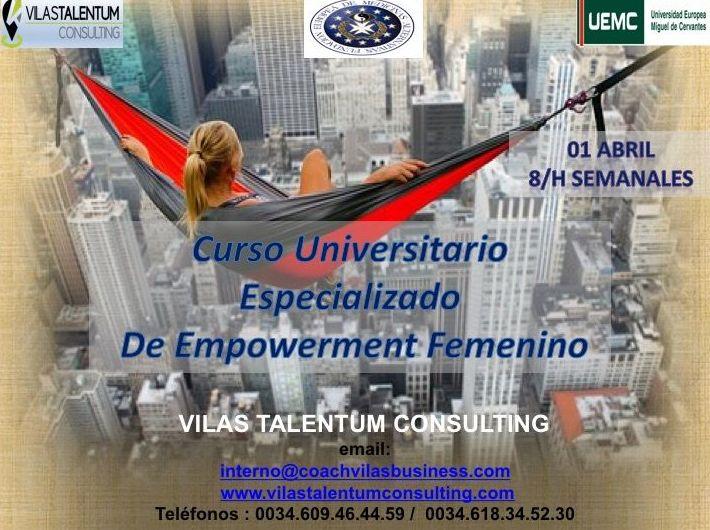 CURSO UNIVERSITARIO ESPECIALIZADO EN EMPOWERMENT FEMENINO