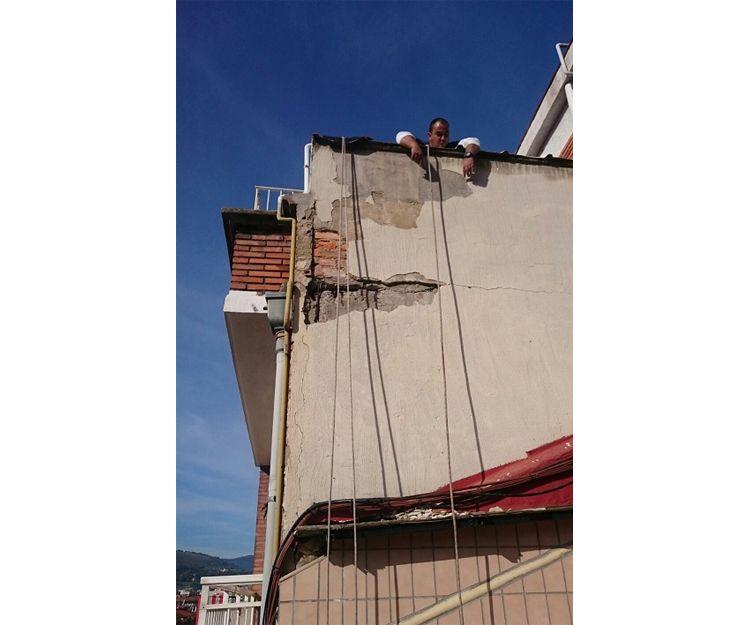 Trabajos de reforma de fachada en Bilbao