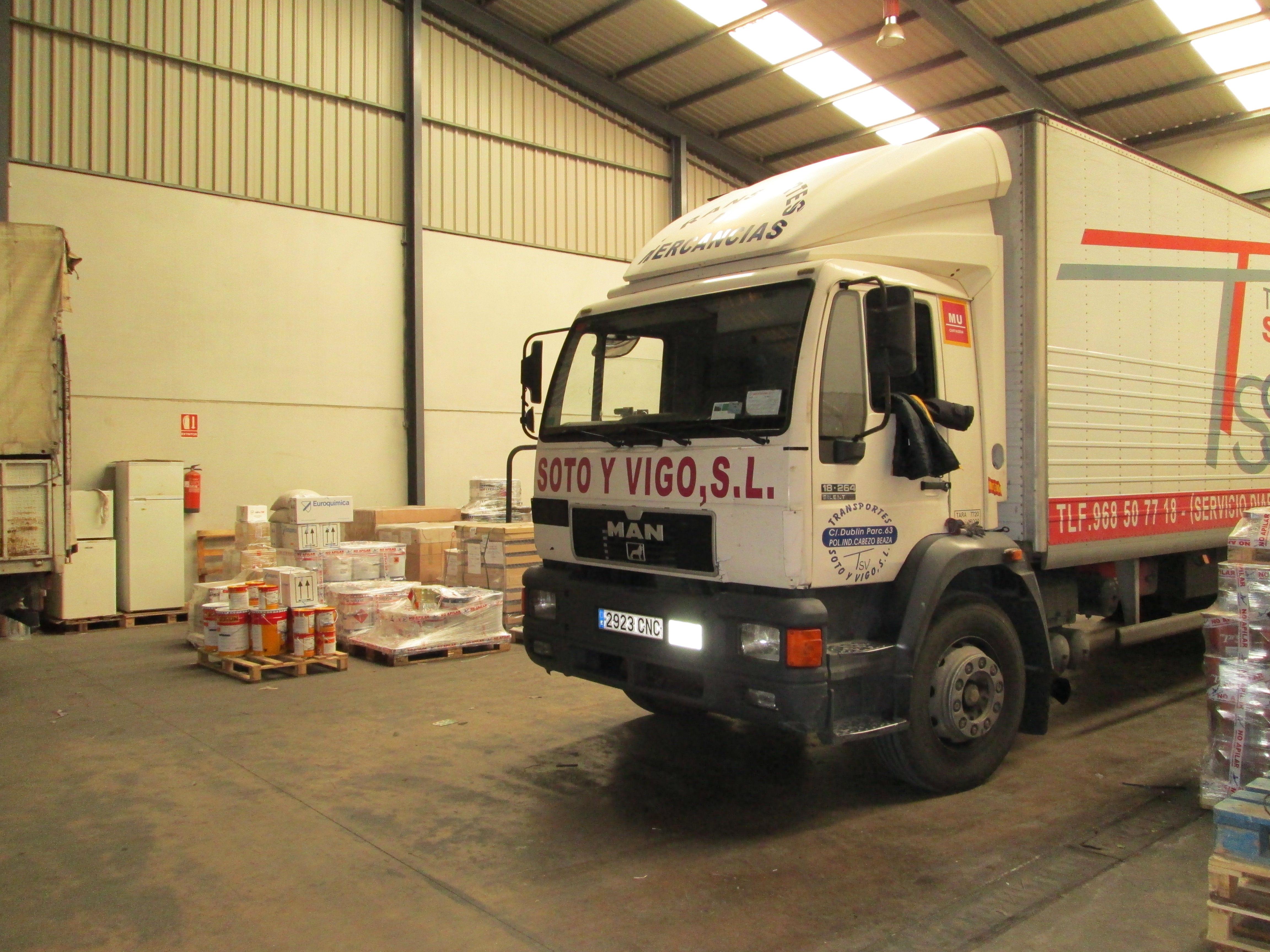 Foto 4 de Transporte de mercancías en Cartagena | Transportes Soto y Vigo, S.L.