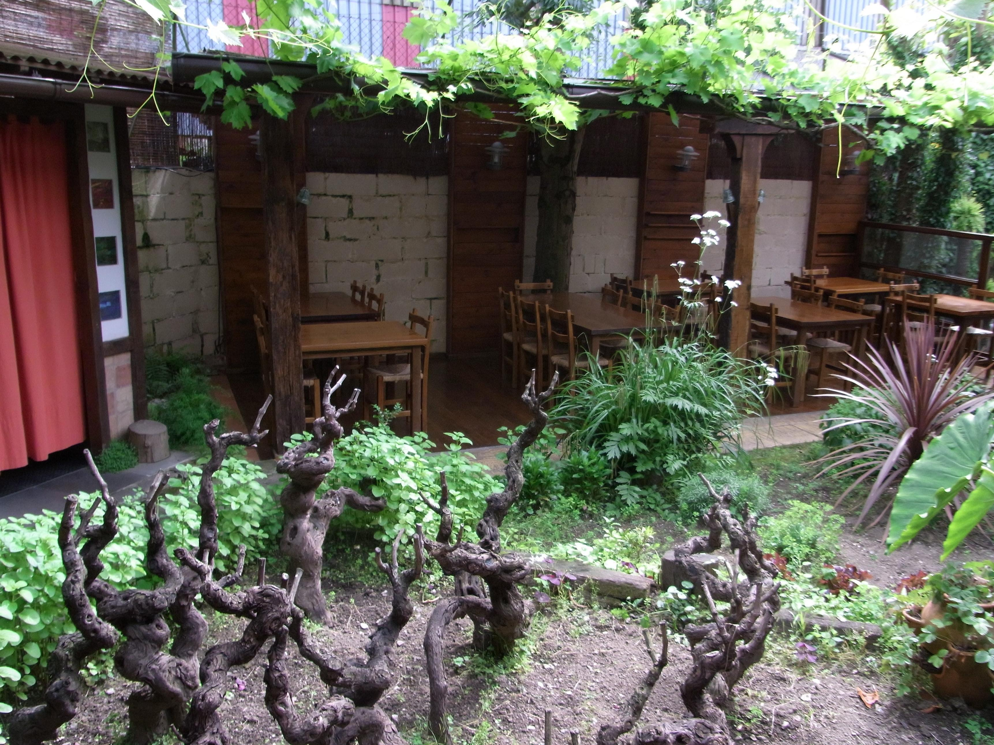 Comedor jardín