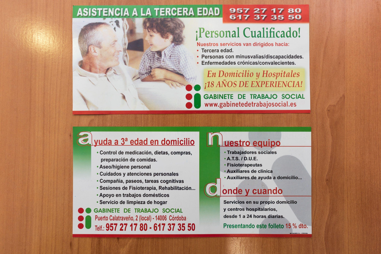 Foto 3 de Atención asistencial a personas mayores, personas con discapacidad y enfermos crónicos en Córdoba | Gabinete de Trabajo Social de Córdoba