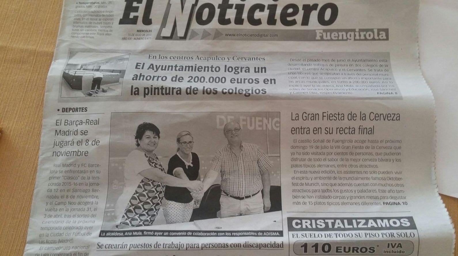 Firma del convenio de Fuengirola