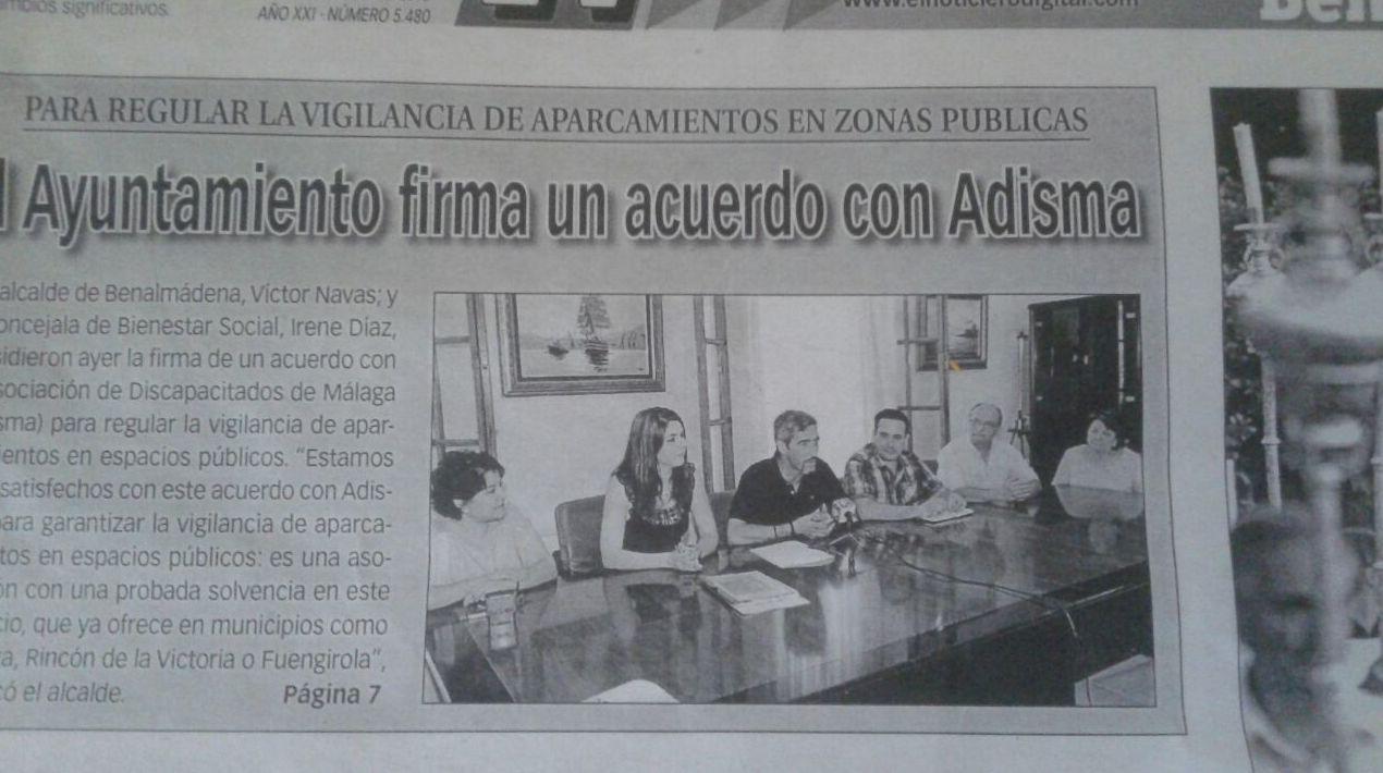 Firma del primer convenio con el Ayuntamiento de Benalmadena