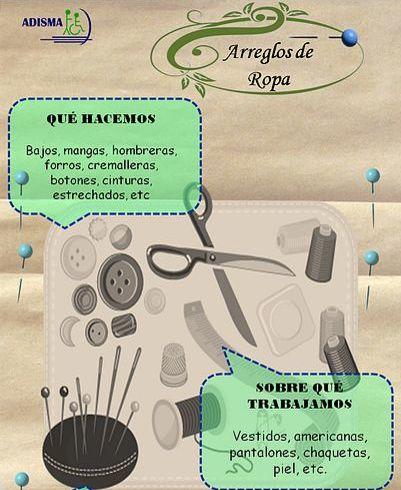 Arreglos de ropa: Servicios de Adisma