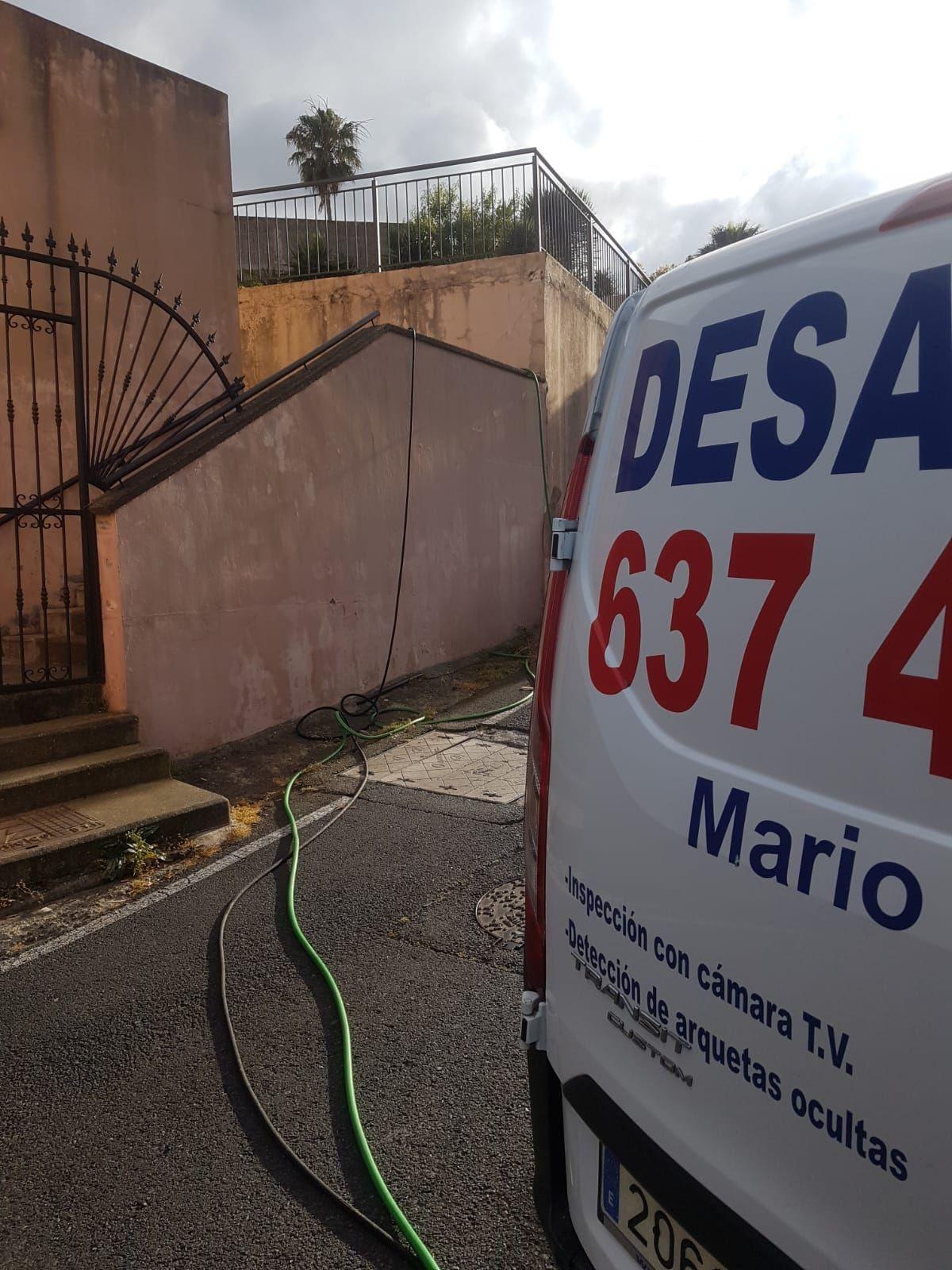 Desatascos urgentes Las Palmas. Inspección con cámara Tv. Detección arquetas ocultas.