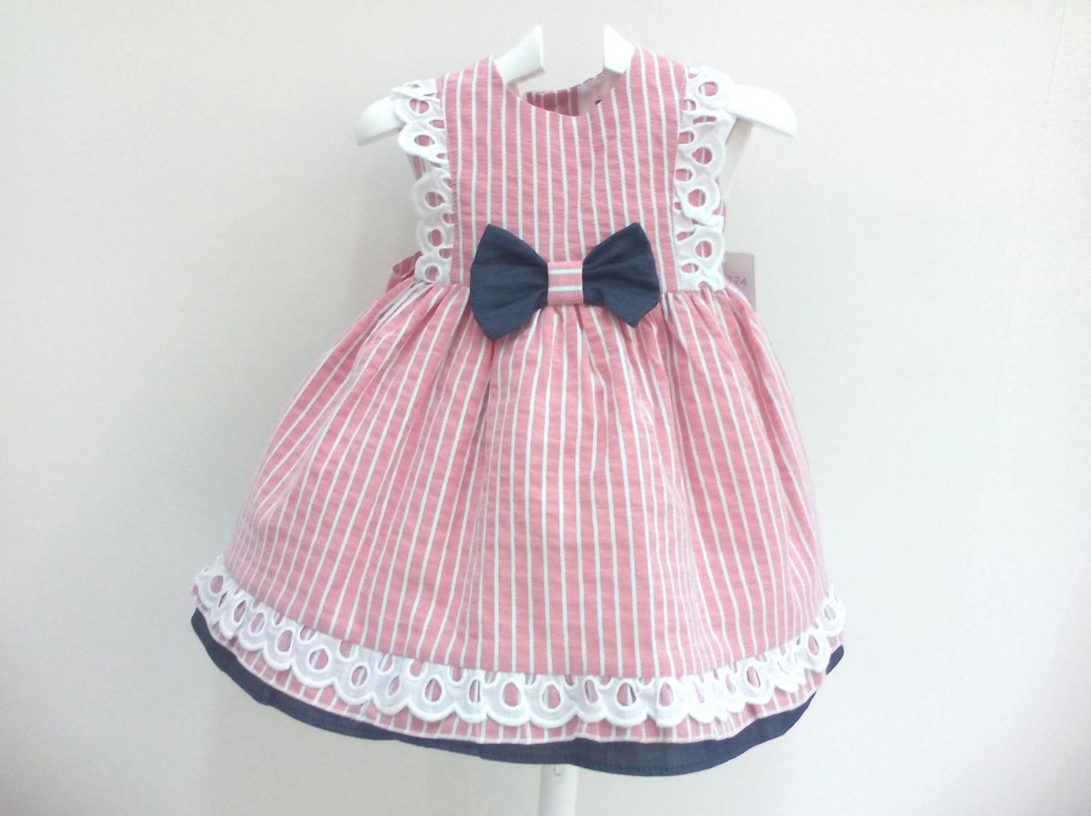 Vestido para niña en rayas de Basmarti