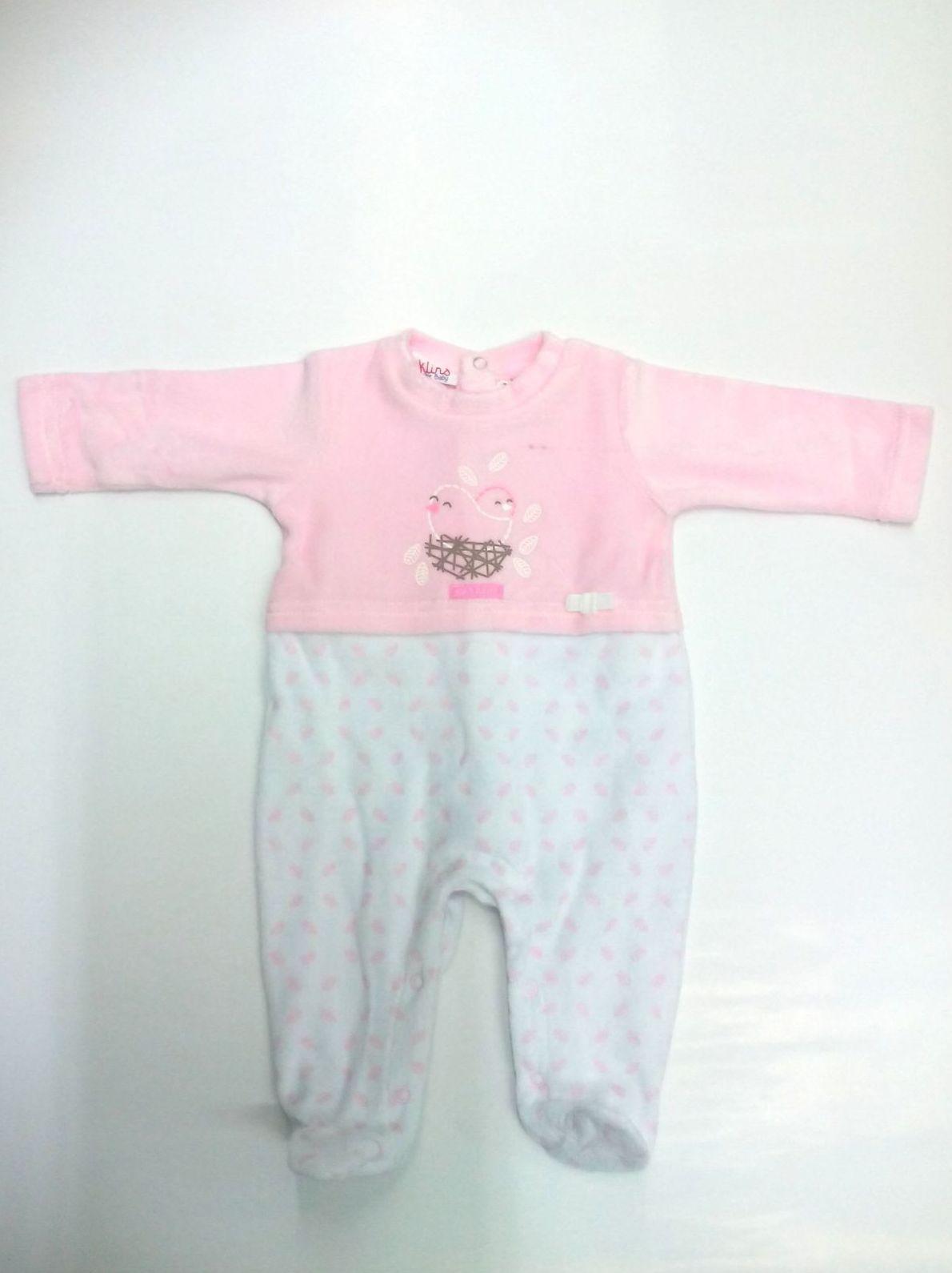 Pijama bebé rosa de Klins