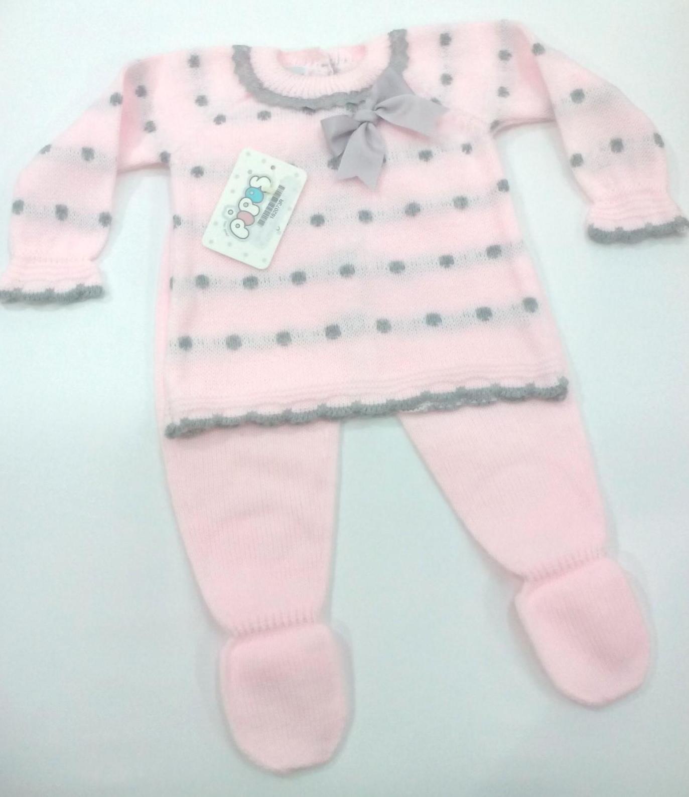 Conjunto de bebé en rosa de Pipos