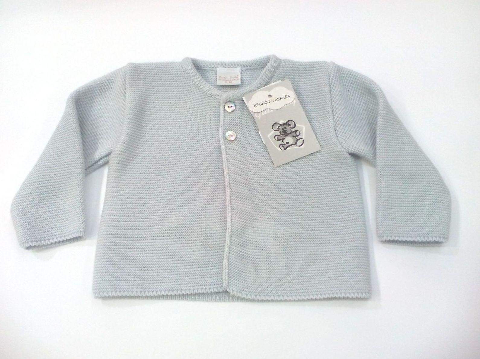 Chaqueta de niño perlé gris