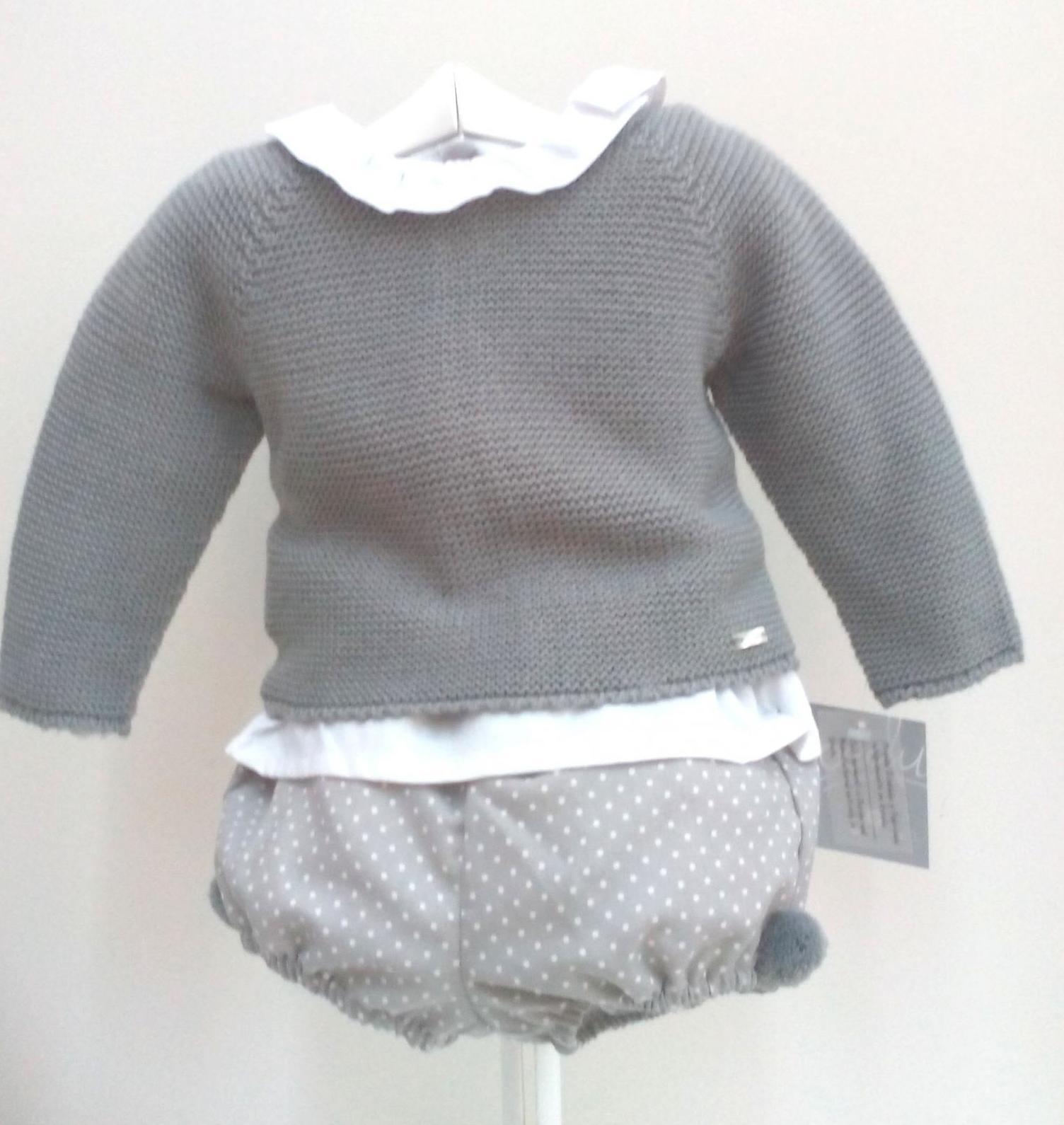Conjunto de niño gris de tres piezas con jersey de Yoedu